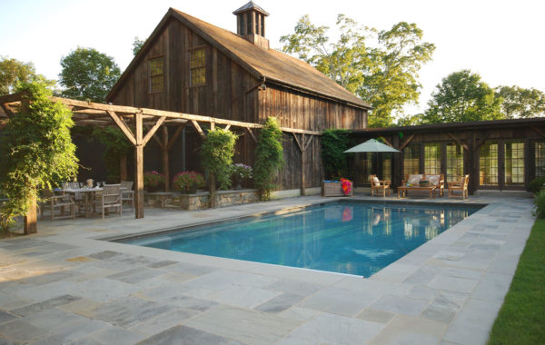 Antique Beam Pergola & Pool