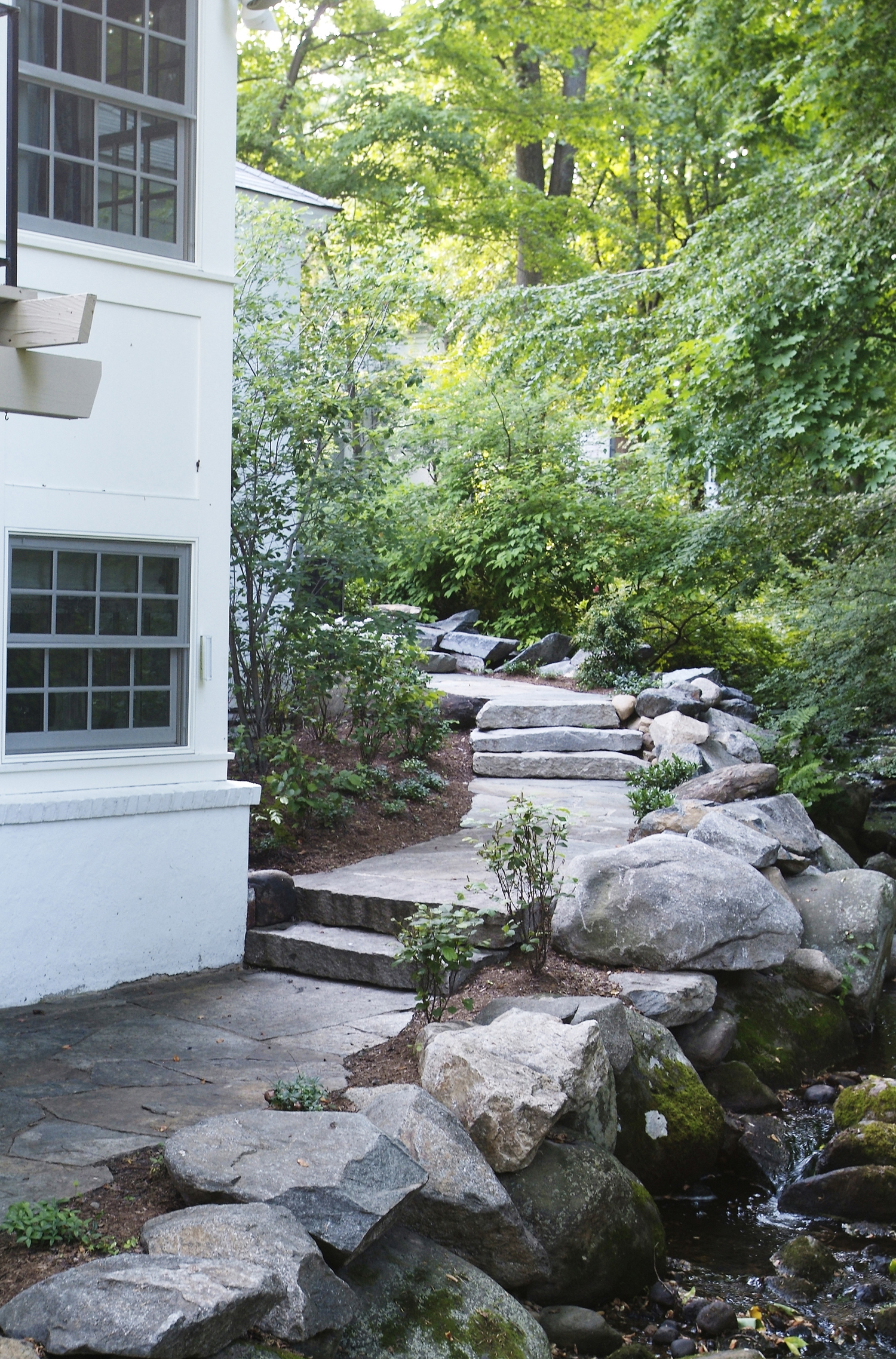 Brick Amp Water In New Canaan Ct Hoffman Landscapes
