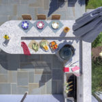 Overhead View of Outdoor Kitchen Space