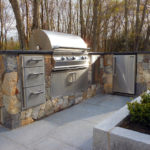 Outdoor Kitchen Grill & Fridge