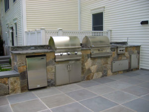 outdoor grill, stove, and oven